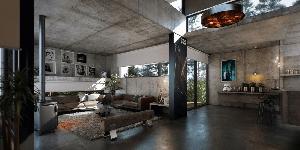 Moderne betonvloer design voor meerdere toepassingen